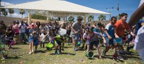 Thousands of Children Swarmed Clearwater's Coachman Park to Hunt Among 30,000 Eggs at Clearwater Community Volunteers' 25th Easter Egg Hunt